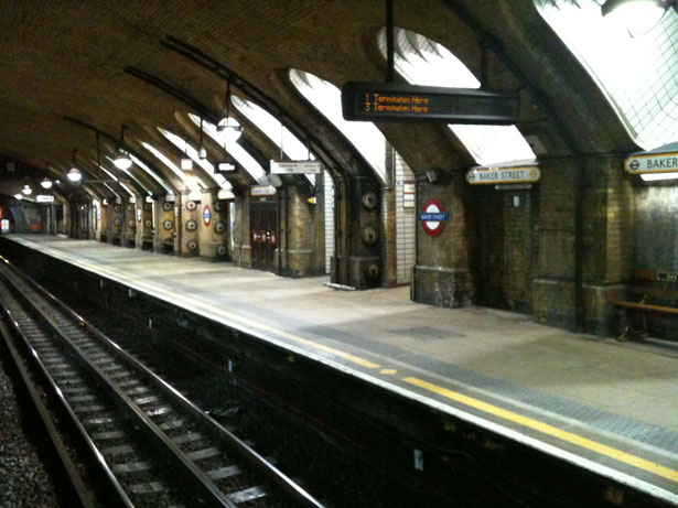 Baker Street Tube Station. A literary platform.