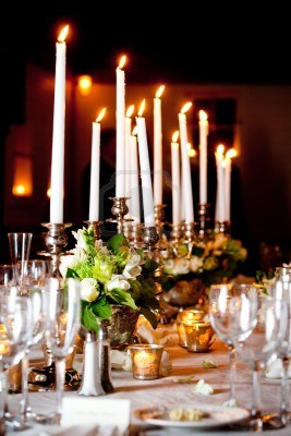 Banquets. So many connotations. So many candles.