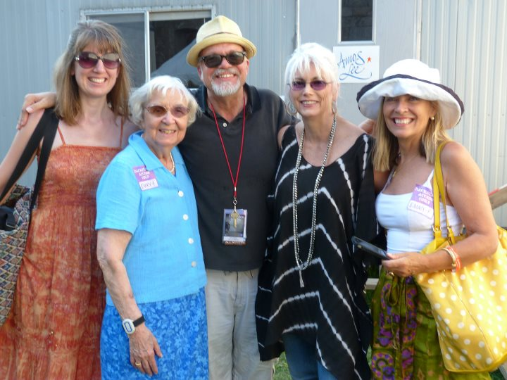 Hali is the one on the far right. Yes, that's Emmylou Harris next to her.