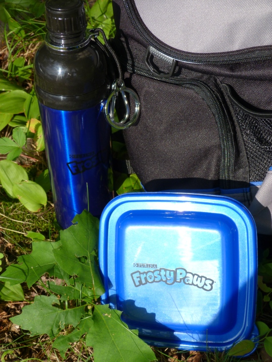. . . was a water bottle FOR DOGS and an insulated freezer container for Frosty Paws frozen dog treats