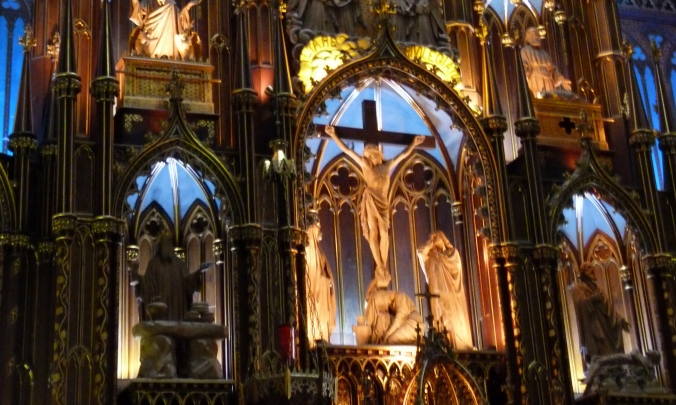 In the Notre Dame Basilica, Montreal