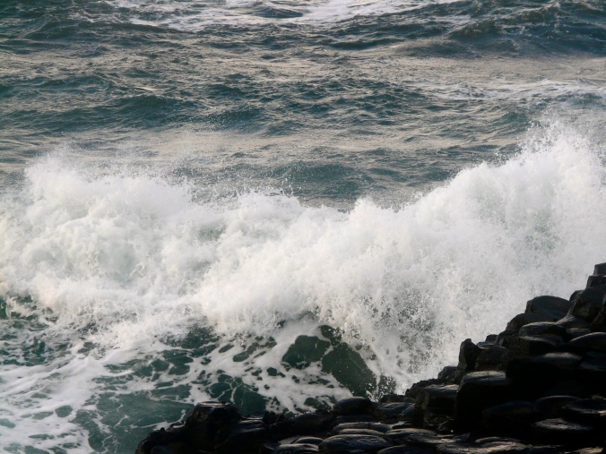 Storm waves at the Giant's Causeway