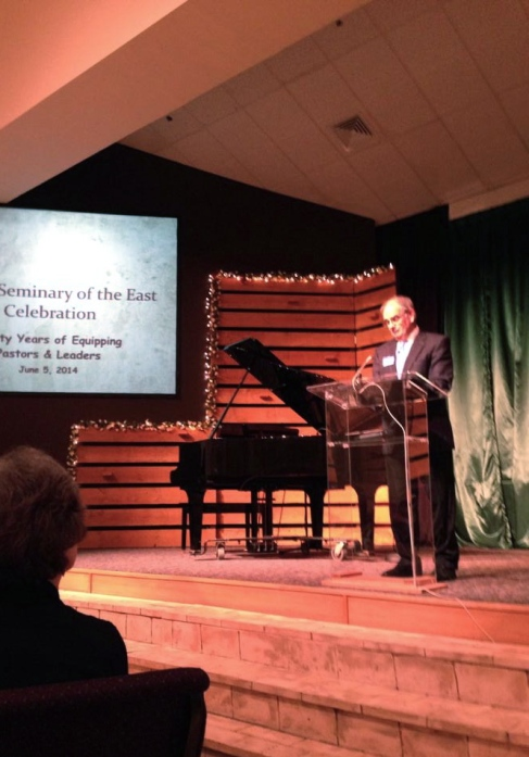 One of the early center Directors returned to give the keynote speech. (photo credit Barbara Ettinger)