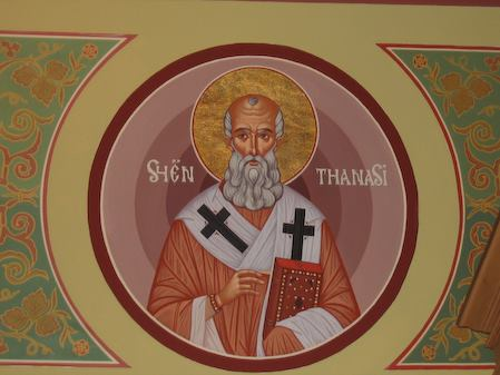 Athanasius: a real systematic theologian (photo--and icon--from St. Mary's Assumption Albanian Orthodox Church