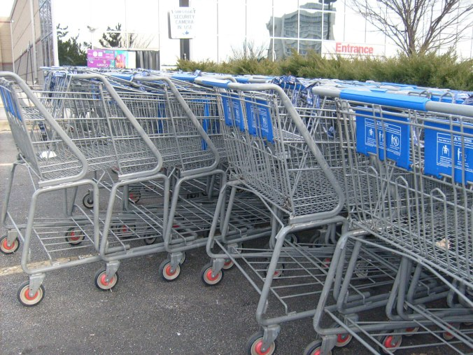 Kindly return your shopping carts to their assigned location. (photo credit Peter Griffin)